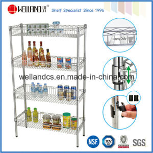 Adjustable 4 Layers Chrome Metal Kitchen Wire Basket Shelving pictures & photos