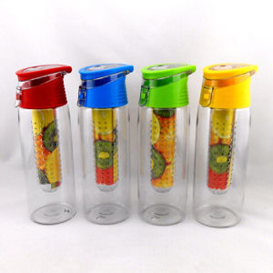700ml fruit infuser water bottle, tritan bottle drinking water plant pictures & photos