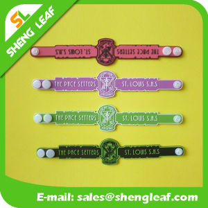New Custom Adjustable Silicone / Rubber Bracelet pictures & photos