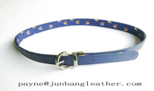 Blue Cloth Synthetic Leather Reversible Belt pictures & photos