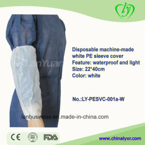 Disposable Machine-Made White PE Sleeve Cover pictures & photos