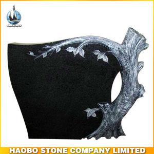 Black Granite Tree Gravestone pictures & photos