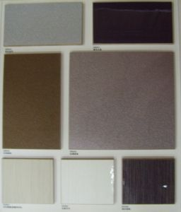 MDF Wood Covering with Artificial Veneer Cabinets Doors pictures & photos
