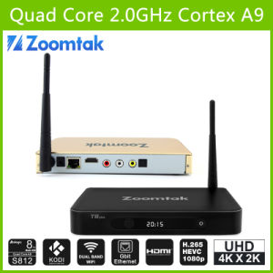 Hottest Quad Core TV Box with 2g RAM 16g ROM Zoomtak T8 Plus pictures & photos