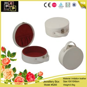 Wedding Decoration Gift Box Round Grey Cosmetic Box (5265) pictures & photos