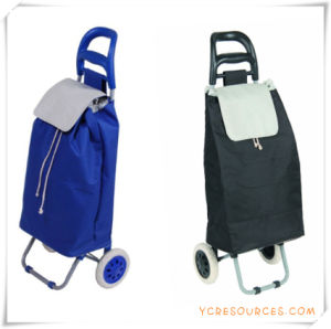 Two Wheels Shopping Trolley Bag for Promotional Gifts (HA82004) pictures & photos