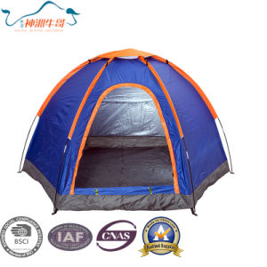 Single Layer Hexagon Camping Tent pictures & photos