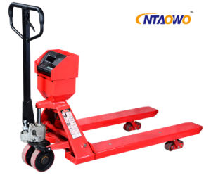 2ton Hydraulic Pump Hand Pallet Truck with Weight Scale pictures & photos