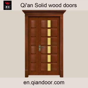 Sapele Solid Wood Main Door Double Door with Lintel pictures & photos