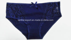 Solid Color New Style Lady Panty with Lace and Bowknot pictures & photos