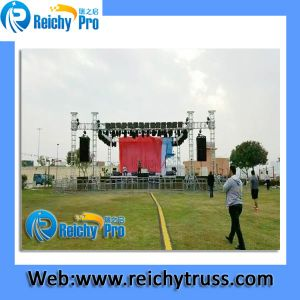 6 Pillars Stage Truss with Roof Aluminum Stage Truss System pictures & photos