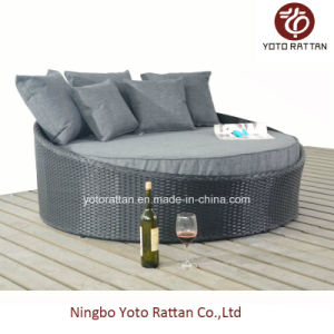 Steel Black Small Lounger for Outdoor (1314) pictures & photos