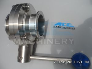 Stainless Steel Sanitary Pneumatic Air Operated Butterfly Valve (ACE-DF-G8) pictures & photos