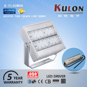 Outdoor LED Flood Light 80W with Mean Well UL Driver