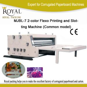 Mjbl-7 2-Color Corrugated Box Machine for Carton Print pictures & photos