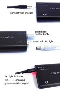 Portable LED Headlight Lamp for Dental Surgical Binocular Loupe 3W pictures & photos