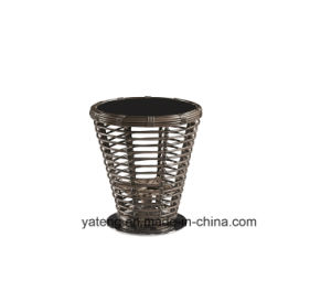 Top Quality Comfortable PE-Rattan Wicker Hotel Furniture Rotatable Chair with Coffee Table Set (YT832) pictures & photos
