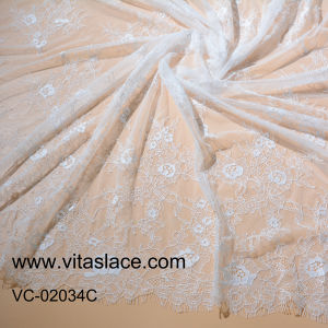 Factory Ivory Embroidery French Lace for Wedding Veil Vc-02034c pictures & photos