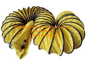Yellow Nylon Fire Retardant Flex Ducting pictures & photos