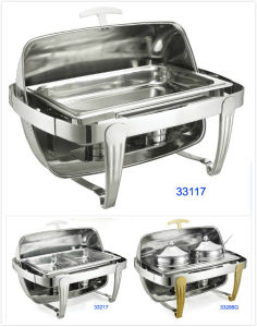 Full Size Roll-Top Chafing Dish Set for Buffet and Restaurant pictures & photos