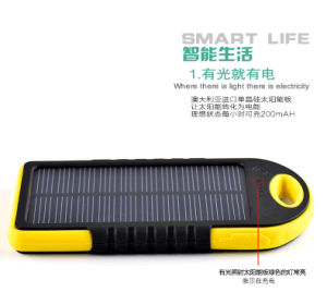 5000mAh Waterproof Solar Power Bank Battery Charger with Dual USB for Mobiles pictures & photos