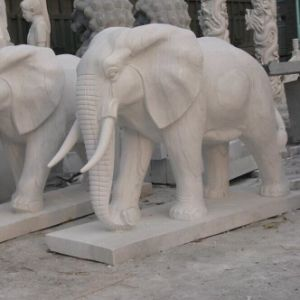 Elephant Marble Statue, Stone Sculpture in Front The Gate, Elephant Stautue, Elephant for Decoration New House