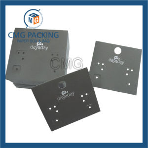 Luxury White Card Earring Display Card with Black Board (CMG-094) pictures & photos