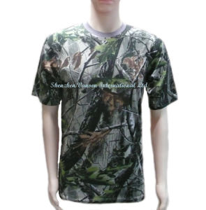 Men′s Cool Camouflage Plain T-Shirt pictures & photos