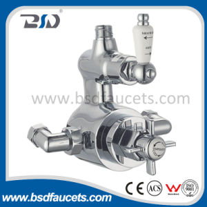 Twin Exposed (Concealed) Thermostatic Shower Valve Cross Handle Ceramic Handle pictures & photos