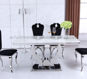 modern big size 10 seater dining room table white marble dining table