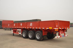 12m 3axles Flatbed Side Wall Semi Trailer
