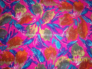 Silk Rayon Satin Burn out Fabric pictures & photos