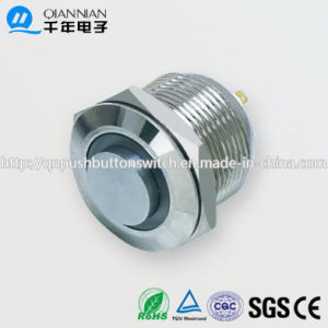 19mm 1no Resetable High Flat Ring Illuminated IP65 Ik08 Push Button Switch pictures & photos