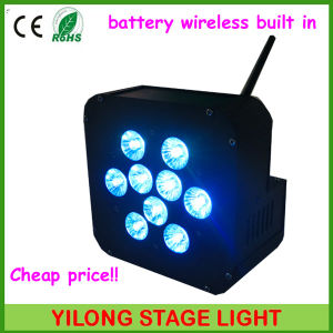 15W Rgbaw Battery LED Stage Lighting for Wedding DJ Disco