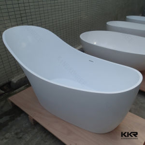 Acrylic Solid Surface Small Adult Simple Bath Tub (BT170425) pictures & photos