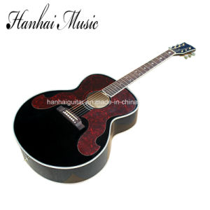 Hanhai Music / 43′′ Black Acoustic Guitar (Black elvis Presley Style) pictures & photos