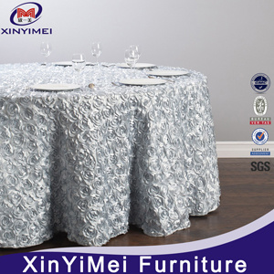 Elegant Decorative Spandex Rosette Table Cloth pictures & photos