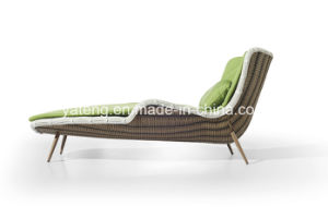 Modern Design Outdoor Beach Rattan Single Lounge Chair with Cushion pictures & photos