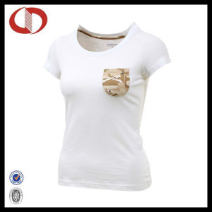 OEM Service Best Design Womens Sports T Shirts with Pocket pictures & photos