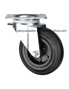 """8"""" European Type Industrial Casters, Rubber Waste Bin Caster with Plastic Rim pictures & photos"""