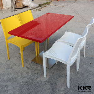 Kkr Modern Design Acrylic Solid Surface Dinner Table with Chair pictures & photos