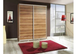 Modern Design High Quality Wooden Wardrobe with Sliding Door (HF-EY080104) pictures & photos