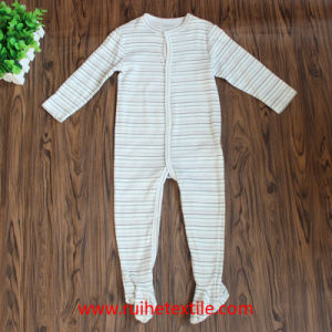 Cotton Stripe Romper, Water Print Jumpsuit for Babies