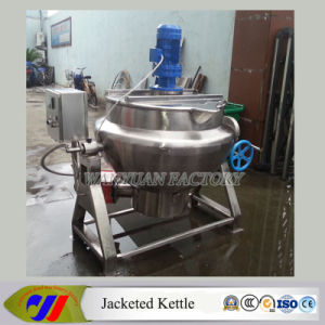 Sesame Paste 300L Gas Heating Jacketed Cooking Pot pictures & photos