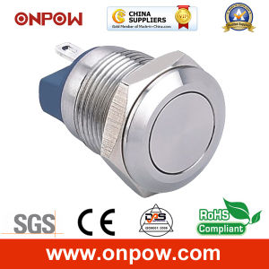 Onpow 12mm Flat Head Push Button Switch (CE, RoHS) pictures & photos