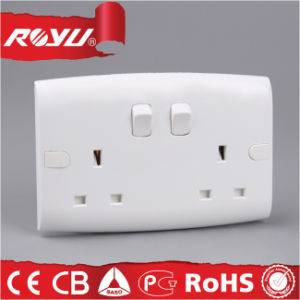 Saudi Arabia Saso 2 Gang 13A Bs Switched Socket pictures & photos