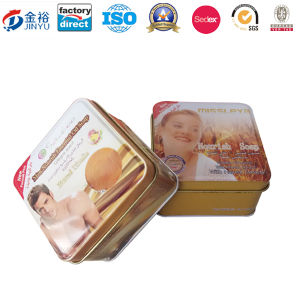 Square Shaped Metal Packaging Box for Soap Skin Care pictures & photos