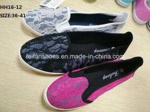 Lady Casual Slip-on Shoes Injection Shoes (HH16-12) pictures & photos