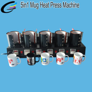 Machine Manufacturers 5 in 1 Multifunction Mug Heat Transfer Machine with Stable Quality pictures & photos