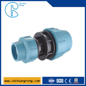 Blue Color Pn10 PP Compression Fittings For HDPE Pipe